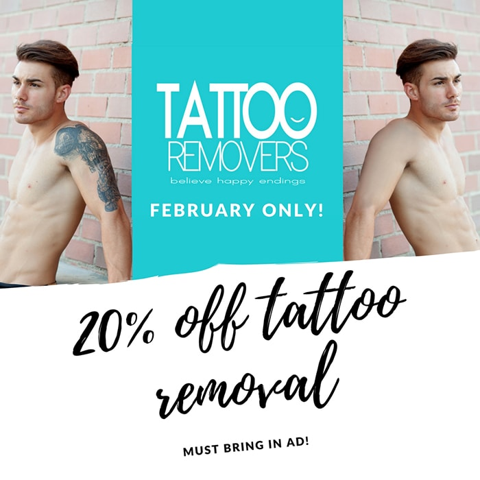 Tattoo Removal 20% Off